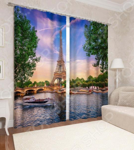 фото Фотошторы Сирень «Из Парижского окна», Фотошторы с городскими пейзажами