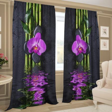 Купить Комплект фотоштор ТамиТекс «Орхидея над водой»