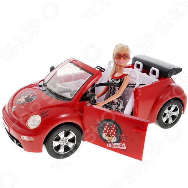 Кукла Штеффи на автомобиле Simba Minnie Mouse