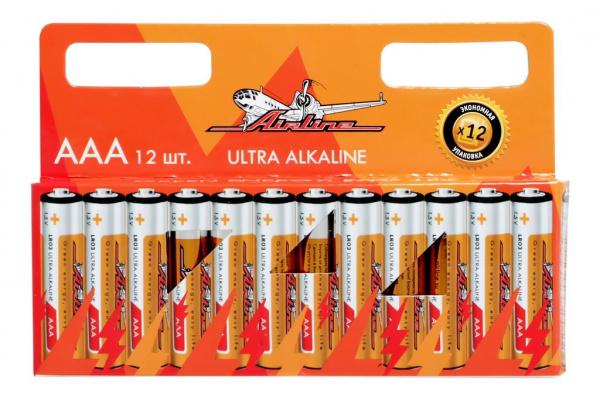 Набор батареек щелочных Airline LR03/AAA набор батареек щелочных airline ag12 lr43
