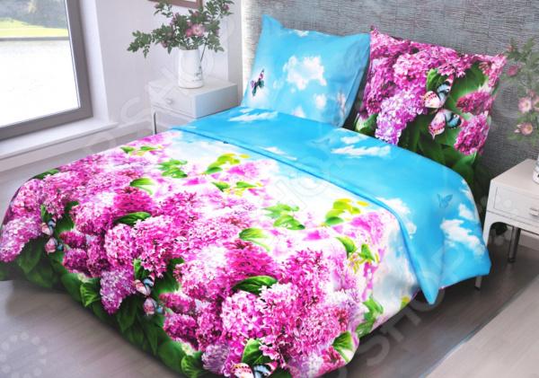 цена Комплект постельного белья Диана «Сирень» 4257 онлайн в 2017 году