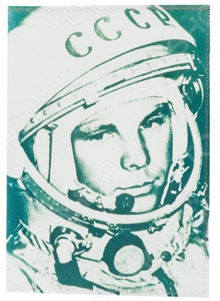Обложка для паспорта кожаная Mitya Veselkov «Гагарин» обложка для автодокументов кожаная mitya veselkov гагарин