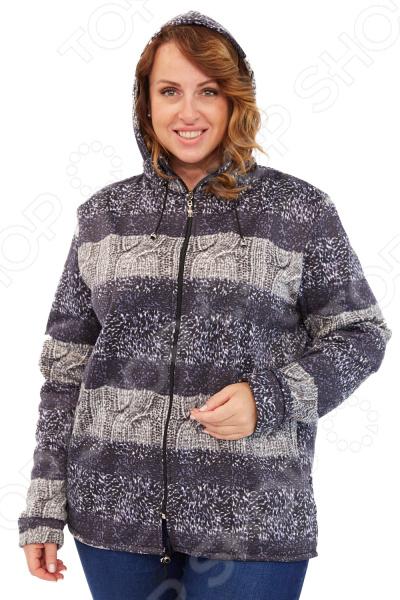 Куртка LORICCI «Теплые края». Цвет: серый