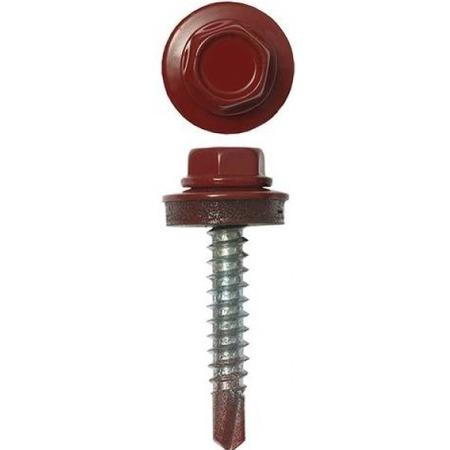 Купить Набор саморезов кровельных Stayer СКД для деревянной обрешетки. Цвет: темно-красный