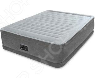 Матрас-кровать надувной со встроенным электронасосом Intex Comfort Plush Elevated Airbed кровать intex comfort plush со встроенным насосом 220в intex 67766
