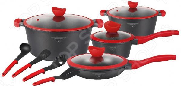 Набор посуды и принадлежностей Mercury Haus Marble Simulation. Количество предметов: 12 шт