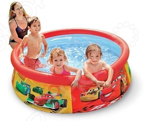 Бассейн надувной детский Intex Cars Easy Set надувной бассейн intex бассейн аквариум 152 56см