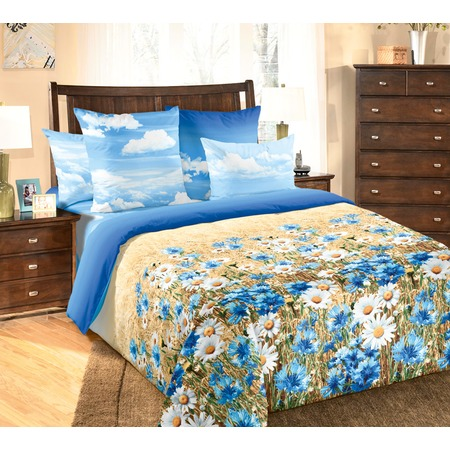Купить Комплект постельного белья Королевское Искушение с компаньоном «Васильки». 2-спальный