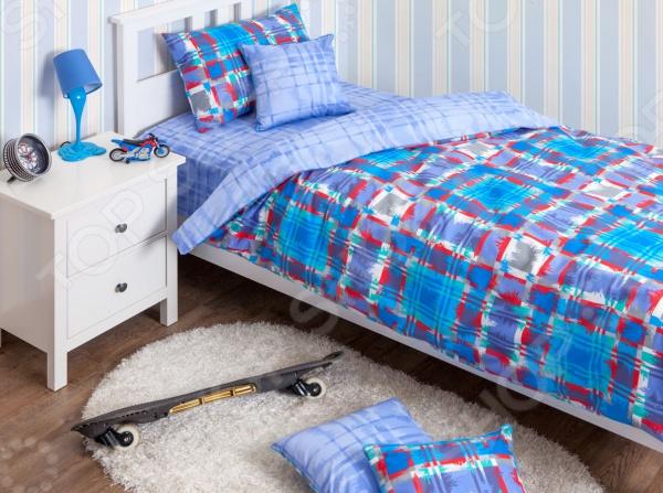 Детский комплект постельного белья Хлопковый Край Geometry blue
