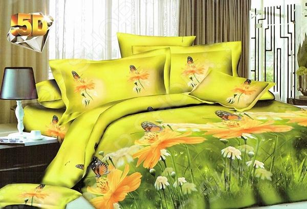 Комплект постельного белья с эффектом 5D «Лансар» BL7872. Евро