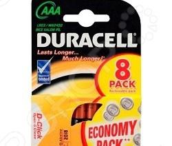 Набор батареек щелочных Duracell LR03-8BL Basic AAA стоимость