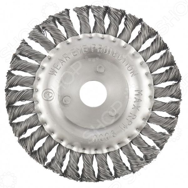 Щетка для угловой шлифовальной машины MATRIX плоская с крученой проволокой