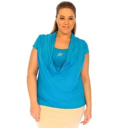 Купить Блуза Матекс «Морская звезда». Цвет: голубой