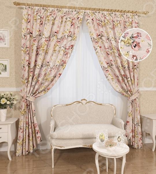 Комплект штор Сирень «Алюция» комплект штор с покрывалом для спальни в москве