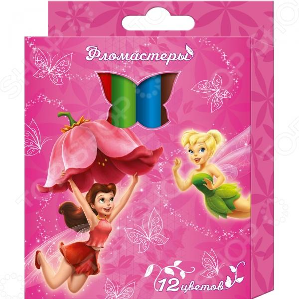 Набор фломастеров Disney «Феи»: 12 цветов