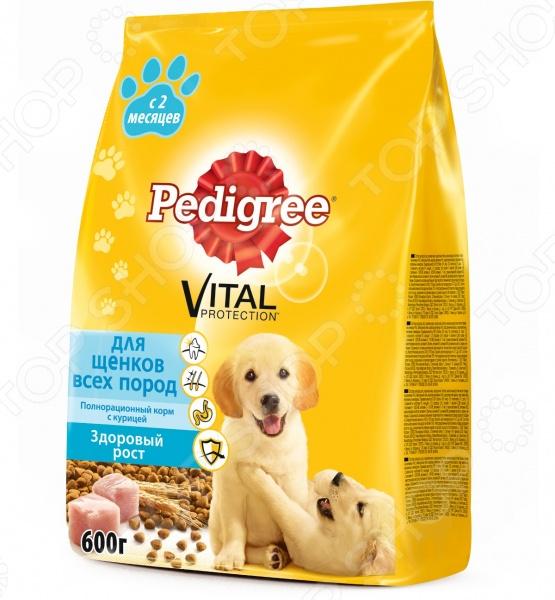 Корм сухой для щенков всех пород Pedigree Vital PROTECTION «Здоровый рост» с курицей