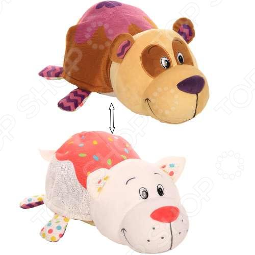 Мягкая игрушка 1 Toy «Вывернушка Ням-Ням 2в1: Панда-Кошечка»