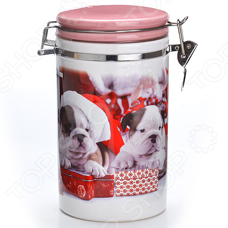 Банка для сыпучих продуктов Loraine «Собачки. Подарки»