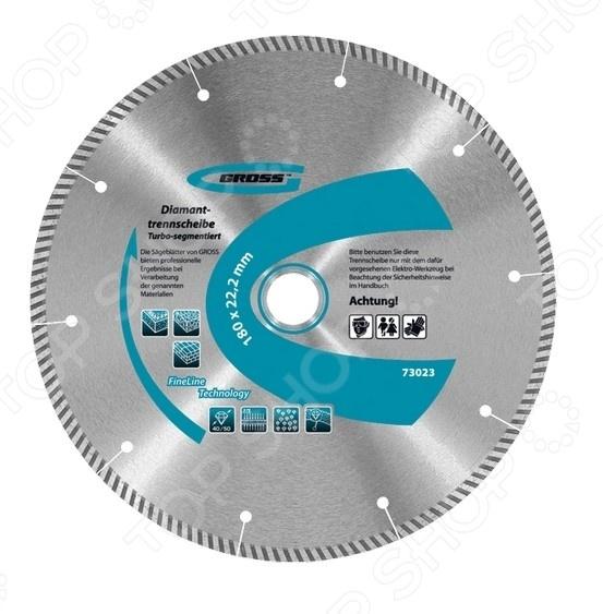 Диск отрезной алмазный GROSS турбо-сегментный диск отрезной алмазный турбо 115х22 2mm 20006 ottom 115x22 2mm