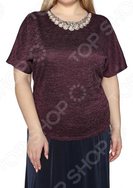 цена Блуза Pretty Woman «Женское очарование». Цвет: баклажановый онлайн в 2017 году