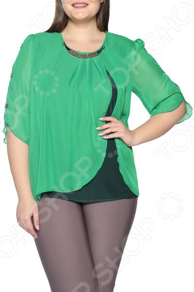цена Туника Pretty Woman «Прекрасная мелодия». Цвет: зеленый онлайн в 2017 году