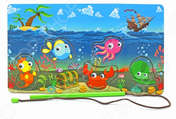 Игра развивающая Мастер игрушек «Рамка-вкладка: Магнитная рыбалка-2» мастер игрушек водоем