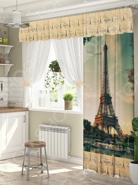 фото Комплект штор для окна с балконом ТамиТекс «Париж», Шторы для окна с балконом