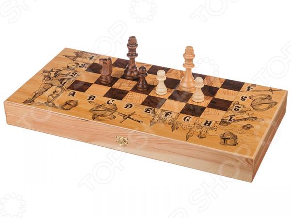 Набор для игры в шахматы, шашки и нарды «Рыцари» 28-337