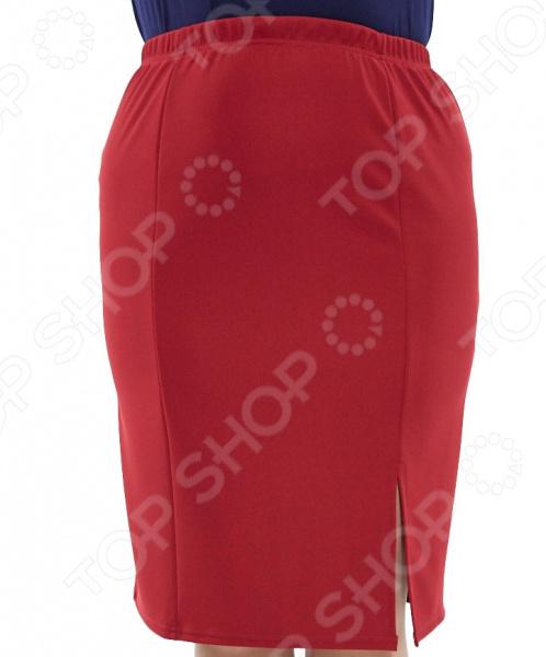 Юбка Лауме-стиль «Самая красивая». Цвет: бордовый