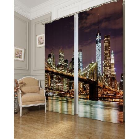 Купить Фотошторы Сирень «Дорога на Манхеттен»