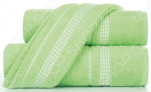 Полотенце махровое Aquarelle «Лето». Цвет: светло-зеленый