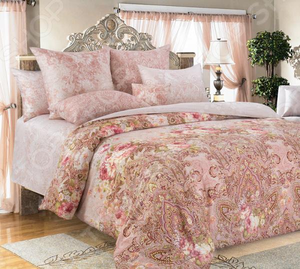 Комплект постельного белья Королевское Искушение «Дива». Цвет: розовый комплект постельного белья королевское искушение итальянка цвет розовый