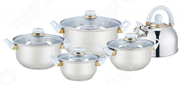 Набор посуды Bekker BK-4601 кастрюля interos 15231 маслины 5 7 л углеродистая сталь