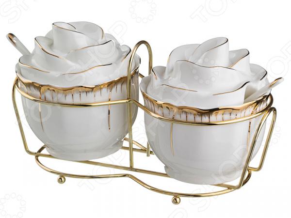 Набор из 2-х сахарниц с ложками Lefard «Цветочная симфония» 590-028 чайный набор lefard цветочная симфония 590 004