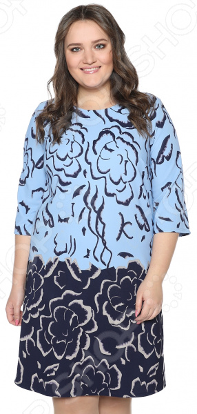 Платье Wisell «Глубокий океан». Цвет: голубой