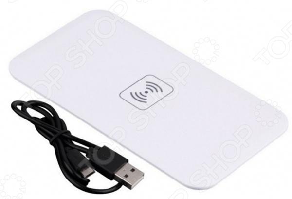 Аккумулятор для смартфонов беспроводной плоский Bradex с Lightning разъемом Аккумулятор для смартфонов беспроводной плоский Bradex SU 0053 /Белый
