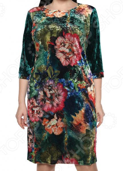 Платье Лауме-Лайн «Будь собой». Цвет: изумрудный limoni coral reef лак для ногтей глянцевый тон 340 лиловый 7 мл