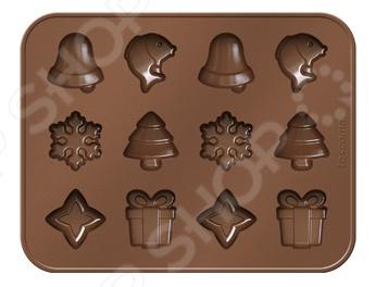 Форма для выпечки и шоколада «Рождественские мотивы» Tescoma Delicia Silicone