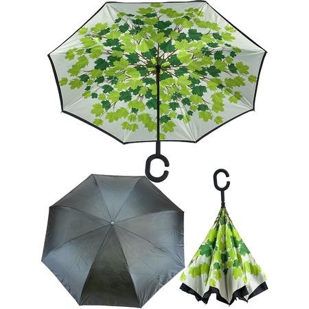 Купить Зонт с обратным открыванием «Кленовые листья»