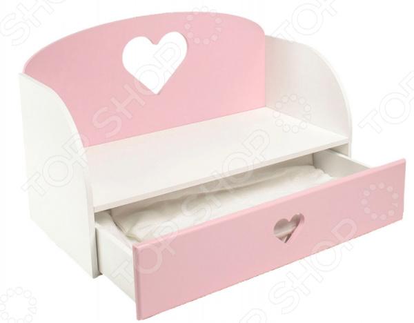 Диван-кровать для куклы PAREMO «Сердце»
