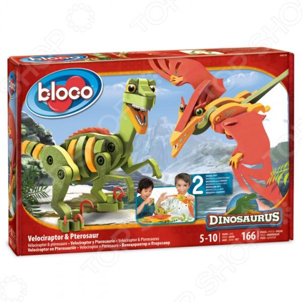 Конструктор мягкий Bloco «Динозавры: Велоцераптор и Птерозавр» bloco конструктор динозавры велоцераптор и птерозавр