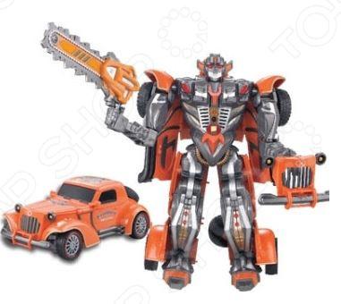 Игрушка-трансформер со световыми эффектами Наша Игрушка «Робот-машина» M7408-7. В ассортименте игрушка робот 31 век angelic monster в ассортименте