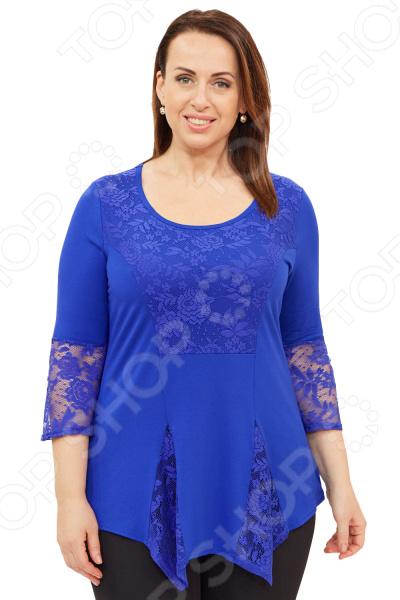 Блуза Матекс «Рузанна». Цвет: васильковый  туника матекс донна цвет васильковый
