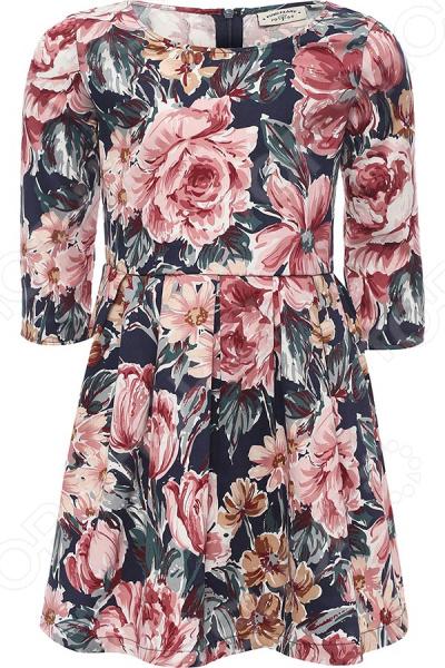 Платье для девочки Finn Flare Kids KB17-71026B. Цвет: темно-синий