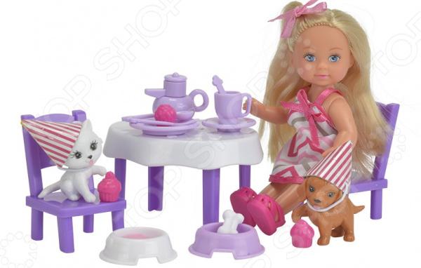Набор игровой с куклой EVI «День рождения питомцев»