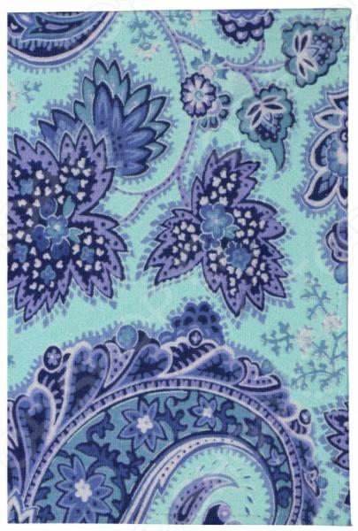 Обложка для паспорта кожаная Mitya Veselkov «Голубой принт»  обложка для паспорта mitya veselkov арбузный принт ok171