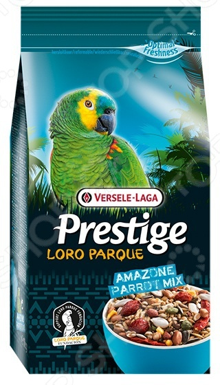 Корм для попугаев крупных размеров Versele-Laga Prestige Loro Parque Amazone Parrot Mix корм для крупных попугаев versele lago african parrot loro parque mix 1 кг