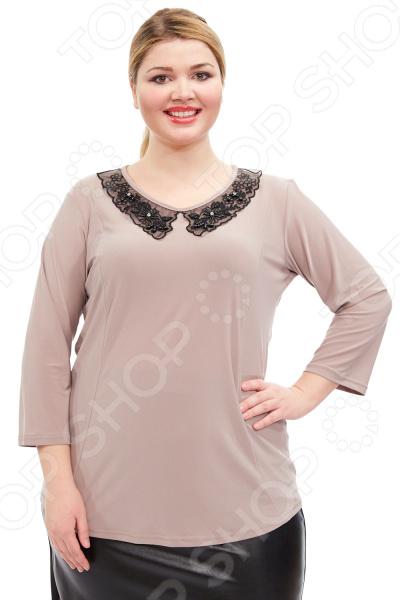 Блуза Лауме-стиль «Вера». Цвет: бежевый блуза лауме стиль заветное признание цвет черный