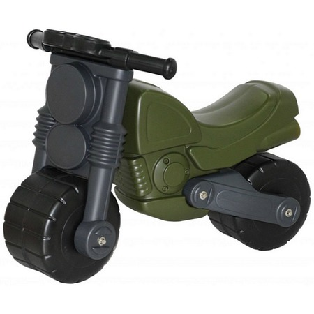 Купить Каталка детская Wader с наклейками «Моторбайк военный»