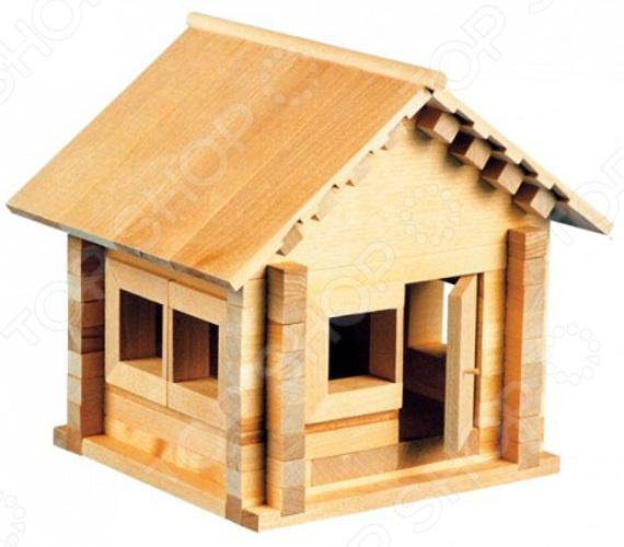 Конструктор деревянный Теремок «Избушка: Теремок с медведем»